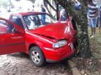 Idoso baleado em discussão morre após bater carro em árvore Divulgação / Brigada Militar/Brigada Militar
