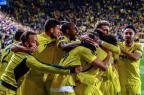 Villarreal marca nos acréscimos e vence o Liverpool na Liga Europa Biel Alino/AFP