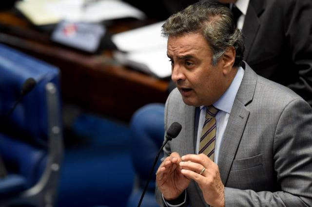 STF determina afastamento de Aécio e Rocha Loures dos mandatos EVARISTO SA/AFP