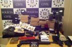 Polícia Civil prende três com armas, drogas, fardas e carro clonado Polícia Civil/Divulgação