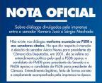 """Em nota, PSDB afirma que diálogos não possuem """"acusação"""" ao partido ou a senadores Reprodução / Twitter/Twitter"""