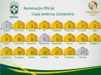 CBF divulga numeração da Seleção para a Copa América Centenário Divulgação / CBF/CBF