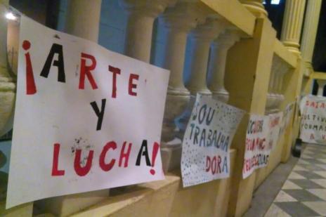 Coletivos culturais de Porto Alegre mantêm ocupação no Iphan (Lauro Alves/Agencia RBS)