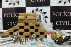 Quatro são presos com carimbo médico, receituários, armas e drogas em Santa Maria Polícia Civil/Divulgação
