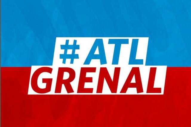 ATL GreNal: atenção redobrada na defesa do Inter e Grêmio partindo para o ataque Divulgação/
