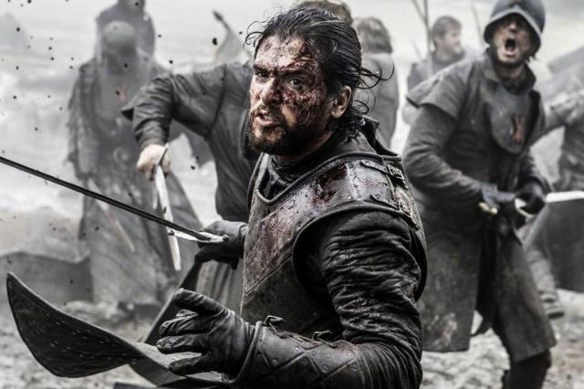 """Kit Harington conta que acertou duas vezes o rosto de Iwan Rheon em """"Game of thrones"""" HBO/Divulgação"""
