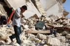 Bombardeio deixa quase 60 civis mortos na Síria THAER MOHAMMED/AFP