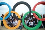 Inauguração dos aros Olímpicos