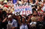 """Trump promete """"segurança"""" se for eleito presidente dos EUA Win McNamee/GETTY IMAGES NORTH AMERICA"""