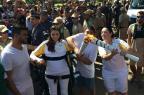 Laís Souza conduz Tocha Olímpica de pé e emociona público em São Paulo Rio 2016 / Divulgação/Divulgação