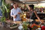 Bela Gil e Jamie Oliver gravam especial para o canal GNT Trícia Vieira / GNT, divulgação/GNT, divulgação