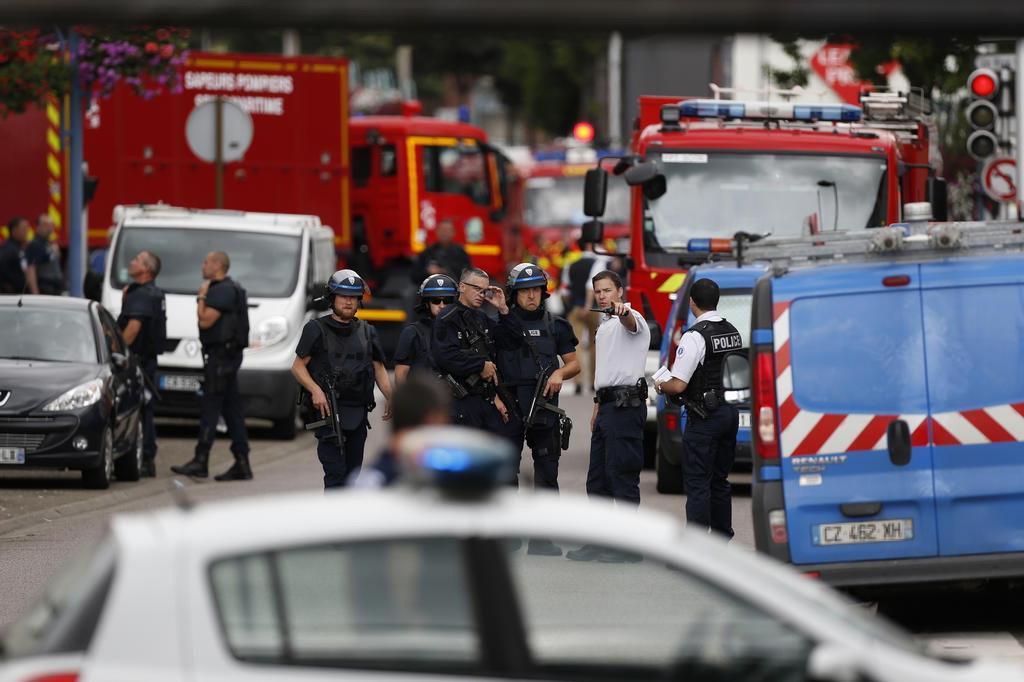Estado Islâmico reivindica ataque em igreja na França (CHARLY TRIBALLEAU/AFP)