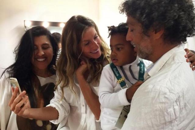FOTOS: celebridades nos bastidores da abertura da Olimpíada Reprodução/Instagram