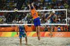 Alison e Bruno: cabeça e coração em busca do ouro na final do vôlei de praia masculino Leon NEAL/AFP