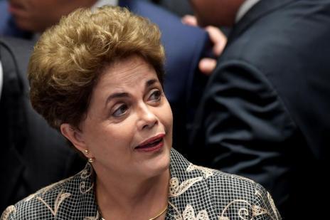 """""""Votem contra o impeachment, votem pela democracia"""", diz Dilma Rousseff em defesa no Senado (EVARISTO SA/AFP)"""