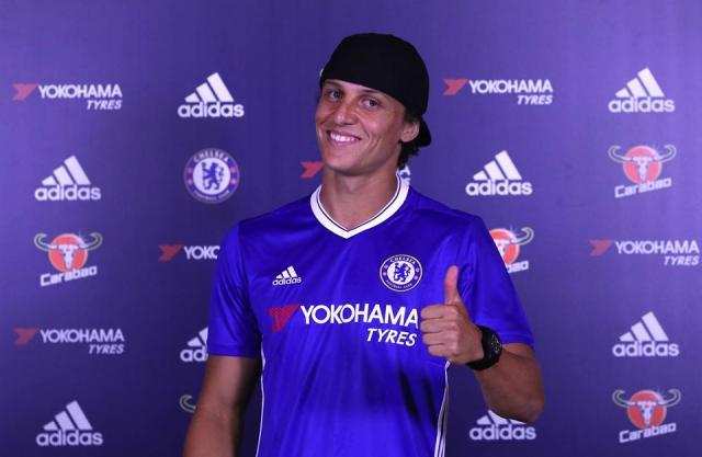 """David Luiz aparece na """"Seleção da Temporada"""" eleita pelos jogadores do Campeonato Inglês Chelsea/Divulgação"""