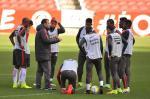 Inter faz treino tático intenso