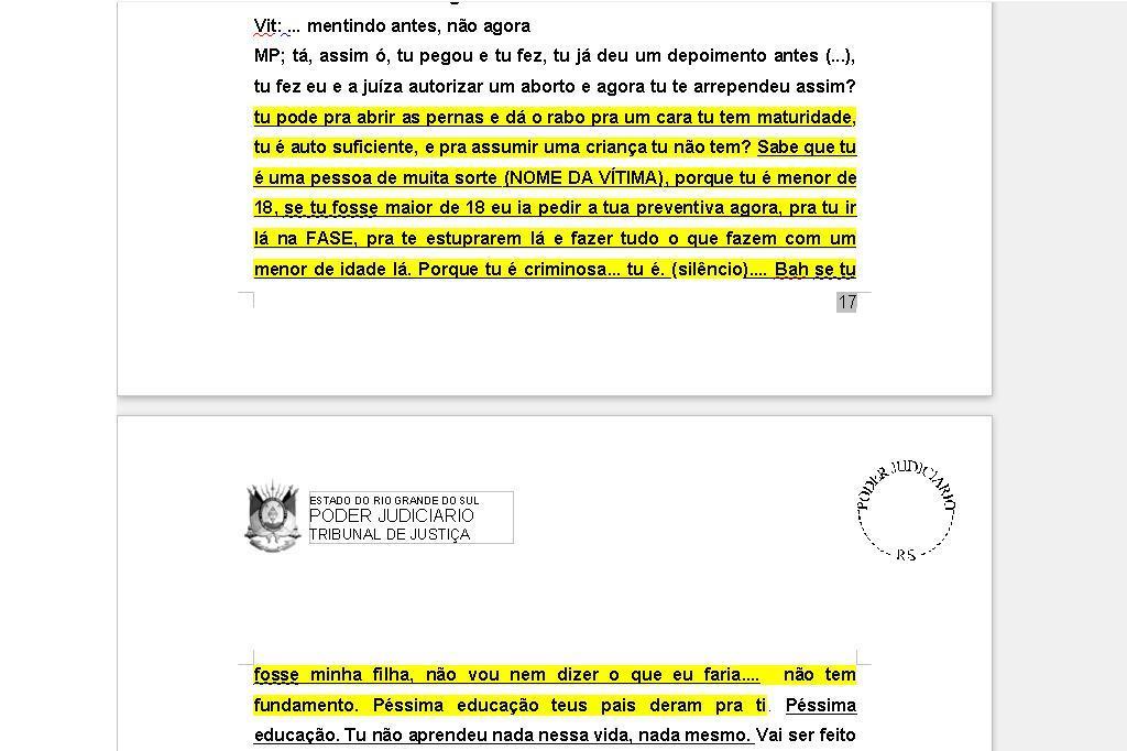 Declarações de promotor contra vítima de abuso sexual chocam desembargadores no Rio Grande do Sul /