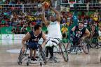 Americanos confirmam favoritismo e vencem o Brasil no basquetede cadeira de rodas Gabriel Heusi / Ministério do Esporte/Ministério do Esporte