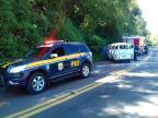 Motorista sem CNH capota Kombi e deixa 18 feridos em Campestre da Serra Polícia Rodoviária Federal/Divulgação
