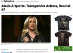 """Morre Alexis Arquette, atriz transexual de """"Afinado no Amor"""" e """"Pulp Fiction"""" Reprodução / Rolling Stone/Rolling Stone"""
