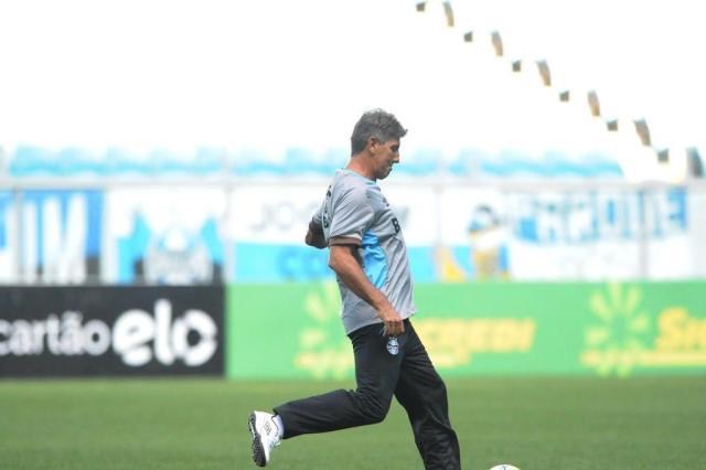 Renato estreia no Grêmio com a missão de garantir vaga às quartas de final da Copa do Brasil Luiz Armando Vaz/Agencia RBS