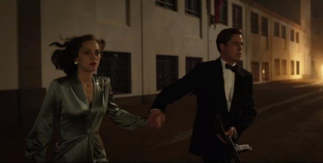 Em meio a rumor de affair, trailer de filme com Brad Pitt e Marion Cotillard é divulgado Reprodução/