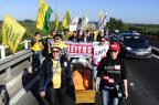 Protesto bloqueia garagens de ônibus por três horas e transtorna trânsito em Porto Alegre Ronaldo Bernardi/Agencia RBS