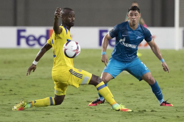 Giuliano marca de letra e chega a sete gols em sete jogos pelo Zenit Jack Guez / AFP/AFP