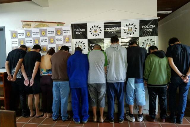 Dez pessoas são presas por tráfico de drogas em Charqueadas, São Jerônimo e Arroio dos Ratos Polícia Civil/
