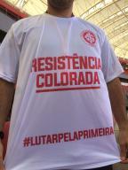 Funcionários do Inter fazem ato de apoio ao time antes do treino Filipe Gamba / Agência RBS/Agência RBS