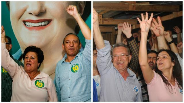 Canoas deve ter 2º turno marcado por troca de acusações Montagem sobre fotos de Anderson Fetter/Agência RBS e Vinicius Thormann/Divulgação/