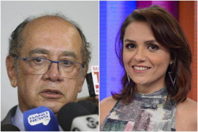 Condenada, Monica Iozzi rejeita acordo e decidepagar indenização de R$ 30 mil a Gilmar Mendes Montagem / Agência Brasil/TV Globo/Agência Brasil/TV Globo