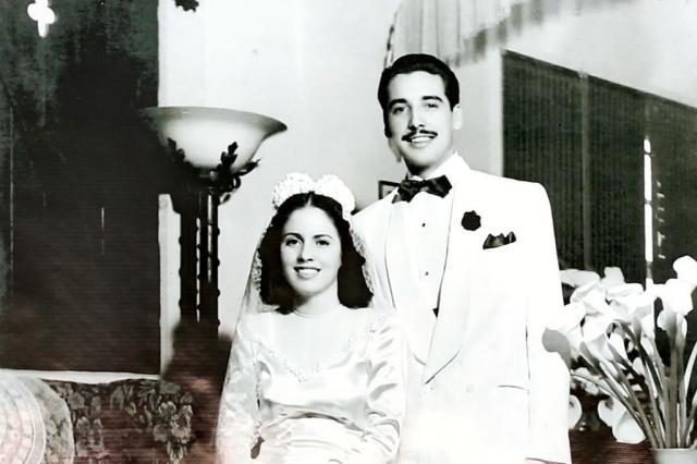 O casal no dia do casamento, sete décadas atrás  -  Foto: Isadora Neumann / Agencia RBS