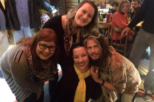 """""""Extremamente simpático"""", conta fã sobre encontro com vocalista do Aerosmith em bar de Porto Alegre /Arquivo Pessoal"""