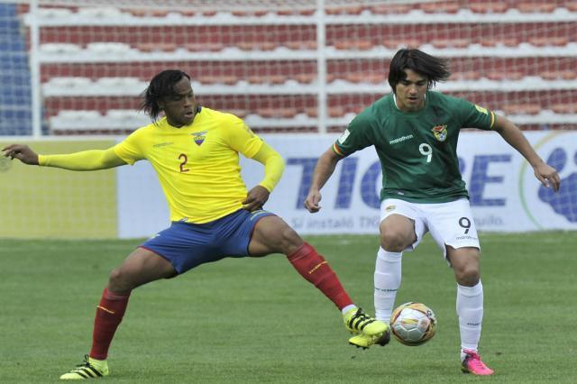 Após sair perdendo, Equador empata em 2 a 2 com a Bolívia AIZAR RALDES / AFP/AFP