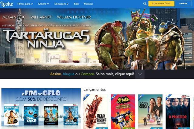 Looke, rival brasileiro da Netflix, permite ver filmes e séries offline divulgação/Reprodução