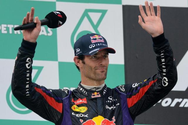Webber anuncia aposentadoria das pistas ao final da temporada ROSLAN RAHMAN/AFP