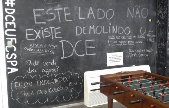 Estudantes mantém ocupação na UFCSPA em protesto contra obra Facebook DCE/Reprodução/
