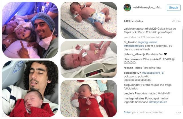 Nasce o filho do colorado Valdívia e da namorada Natallielen Marques Reprodução / Instagram/Instagram