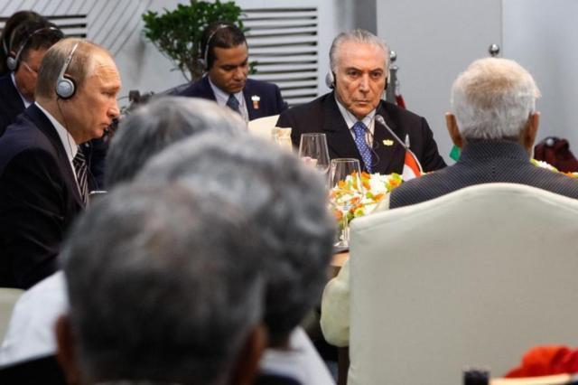 """Na Índia, Temer diz que Brasil passa por transformação econômica e ressalta """"estabilidade política"""" Isac Nóbrega/Presidência da República/Divulgação"""
