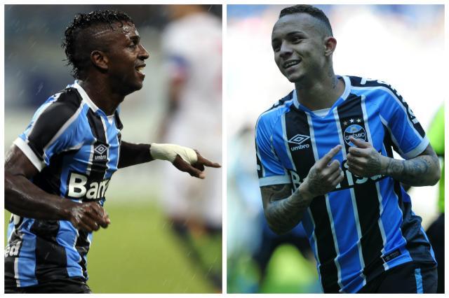 Colunistas opinam: Everton e Bolaños devem ser titulares do Grêmio na quarta? Montagem sobre fotos / BD/BD