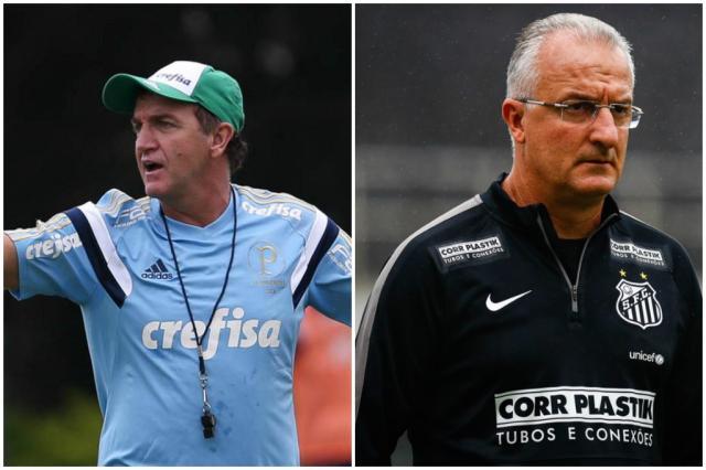 Rivais de Grêmio e Inter podem poupar titulares na Copa do Brasil Colagem Rádio Gaúcha/Divulgação / Palmeiras / Santos