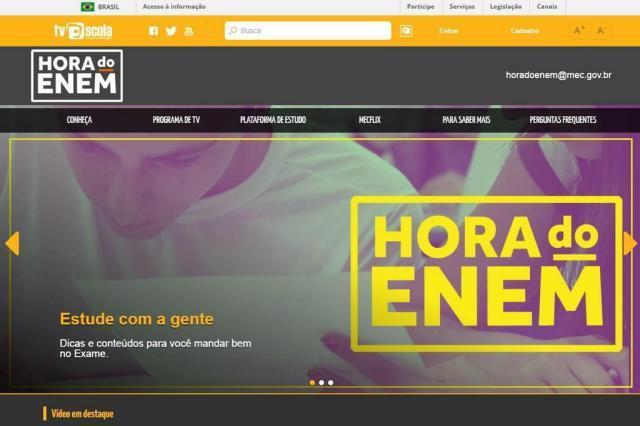 MEC prorroga prazo para o último simulado do Enem Reprodução / horadoenem.mec.gov.br/horadoenem.mec.gov.br