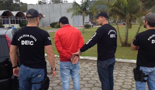 Chefe de quadrilha gaúcha de ataque a carros-fortes é preso durante operação em Canasvieiras Polícia Civil / Divulgação/