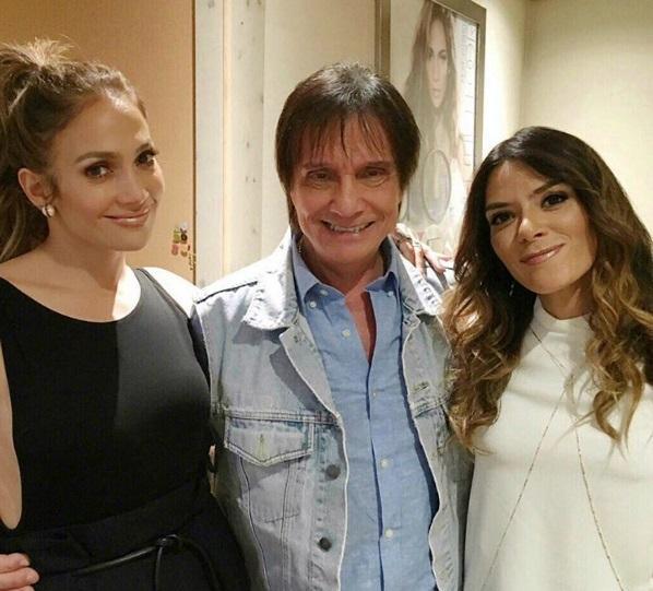 Roberto Carlos e Jennifer Lopez gravam clipe em Los Angeles Kany Garcia / Instagram, reprodução/Instagram, reprodução