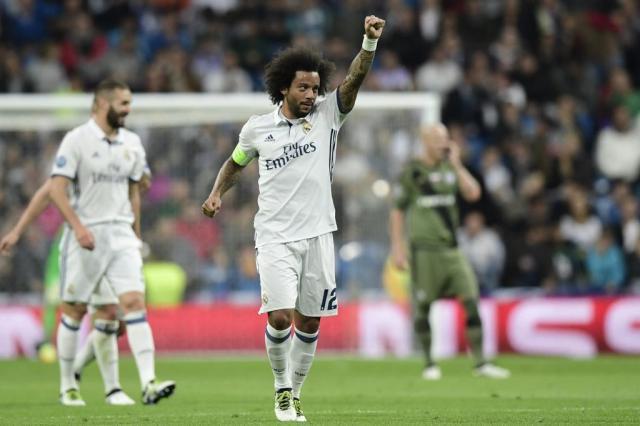 Real Madrid vence e divide a liderança do grupo com oBorussia Dortmund JAVIER SORIANO/AFP