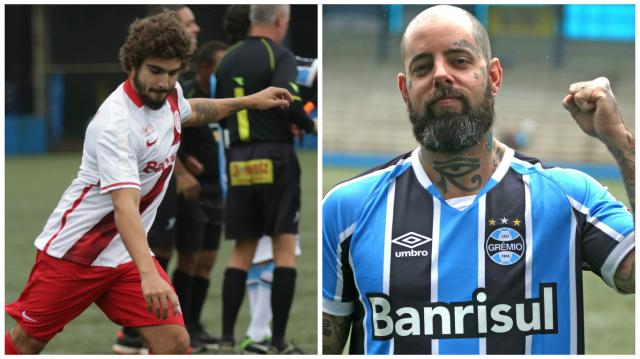 Eles batem um bolão: Caio Castro, Tico Santa Cruz e outros famosos disputam o Gre-Nal dos Artistas Fotos Felipe Nogs / Agência RBS/Agência RBS