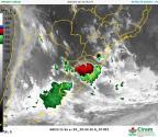 Quarta-feira tem calorão acima de 30°C e alerta para novos temporais em Santa Catarina Reprodução / Imagem de satélite/Imagem de satélite