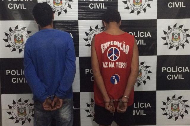 Homem suspeito de homicídio na capital é preso em Santiago Polícia Civil/Divulgação